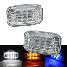 1Pair For Toyota Land Cruiser J70 80 100 Series Side Marker Signal Clear Lamp White Amber Blue Colors