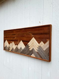 Past Reclaimed Wood Wall Art Twin Headboard Mountain Range Large Wood Wall Art, Reclaimed Wood Wall Art, Reclaimed Wood Projects, Wood Art, Wall Wood, Rustic Art, Rustic Wall Decor, Rustic Wood, Twin Headboard