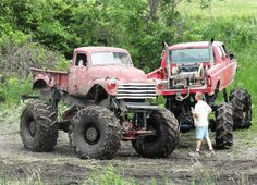 Some old school mudding with this classic truck. Loving these big trucks. Lifted Ford Trucks, Cool Trucks, Chevy Trucks, Pickup Trucks, Cool Cars, F150 Truck, Jeep Truck, Redneck Trucks, Big Monster Trucks