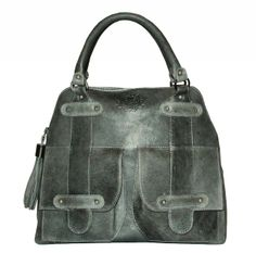 The Hathaway in Distressed Charcoal Gray