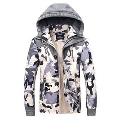 Camouflage Mens Winter Puffer Jacket with Hood   Sneak Outfitters Winter  Puffer Jackets, Mens Winter bf0b913631