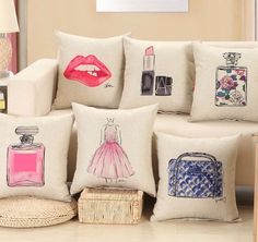 Fashion red lips cushion without inner lipstick perfume bottle home sofa decorative pillow car seat capa de almofada cojines Price history. Category: Home & Garden. Subcategory: Home Textile. Product ID: Diy Pillow Covers, Sofa Cushion Covers, Decorative Pillow Cases, Diy Pillows, Linen Pillows, Sofa Pillows, Cushions, Sofa Chair, Car Chair