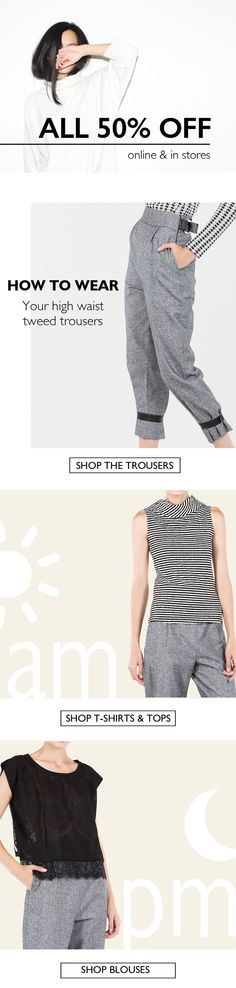 BSB Fashion Newsletter W16 - ALL items 50% off - H2W the tweed trousers