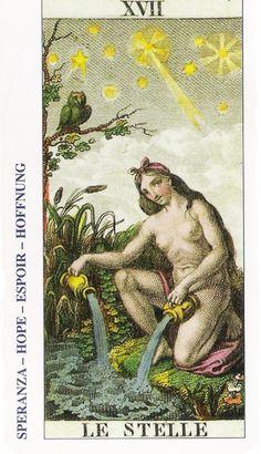17-Cartas de Tarot - La Estrella-Tarot, Astrología, Horóscopos, Metirta
