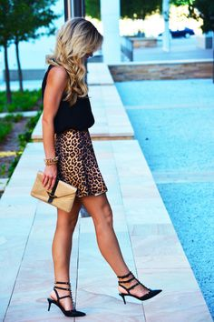 Classic pairing: Black and Leopard