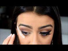 Como fazer delineado e colar cílios postiços por Mariana Saad - YouTube