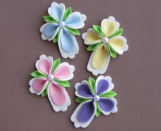 4pc. Felt Easter, Religious, Christian Cross Hair Clip Set.Order This Set or Choose Colors and Amounts.