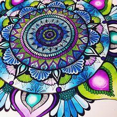 Gorgeous colourful mandalacreated by @art_by_mck with their Chameleon pens.   #mandala #madalaart #zentangle #zenart #zendoodle #penart #creative #colorful #chameleonpens  #art #artist
