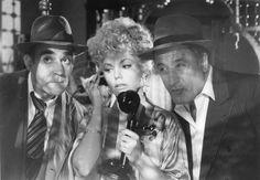 Abe Vigoda, Marsha Mason, and Vic Tayback in The Cheap Detective (1978)
