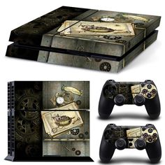 PS4 Playstation 4 Console Skin Decal Sticker Old Time Machine Custom Design Set #ZoomHit #Playstationtips