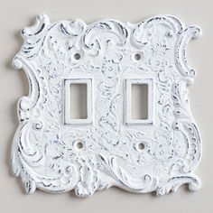 White Cast Iron Double Switch Plate $10 World Market