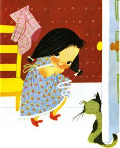 I Can Fly, a Little Golden Book first published in 1951. Written by Ruth Krauss. Illustration by Mary Blair.