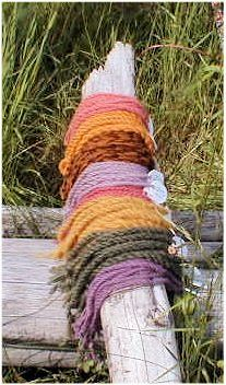 Traditional lichen dye colors. A whole list of which varietals yield which colours and shades.