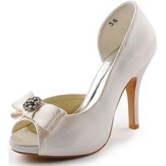 Scarpe Decollete da Sposa con Fiocco in Raso www-miamastore-com beige