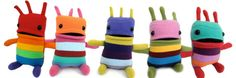 Mini Creatures by Mr. Green Turquoise, Purple Yellow, Pink And Green, Very Jane, Bright Colors, Kids Toys, Activities For Kids, Creatures, Zig Zag