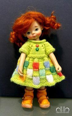 Heavenly kids dolls & patchwork dress by 퉁퉁이