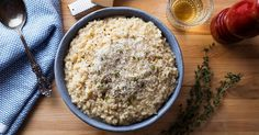 In this classic risotto, rice simmers in a wine and an herb-packed stock before getting hit with lemon and tons of Parmesan cheese.