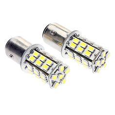 1157 2.5W 220-260LM 36x3528SMD LED White  gult ljus Car Backup / Steering Lamp (DC 12-14V, 1-Pair) – SEK Kr. 234