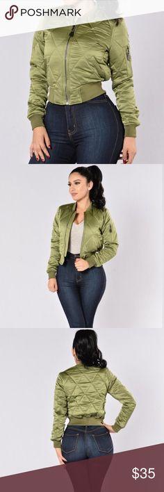 New fashion nova olive bomber jacket New with tags   size  Medium   brand  eca95e402
