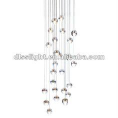 Round pendant glass ball Chandelier 26 heads LED light on AliExpress.com. $160.00