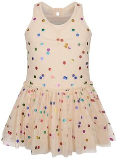 Stella McCartney Girls Pink Spotted Tulle Dress