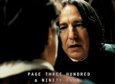 Severus puts some fear in Harry