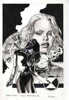 Ungoliantschilde — some black and white artwork by JG Jones.