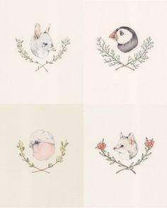 Animals and Branches by Sarah McNeil, via Flickr