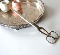 Vintage sewing scissors.