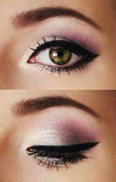 Pink makeup.