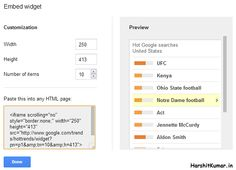 Google now allows you to Embed the Hot Searches Trends on the Webpages_1