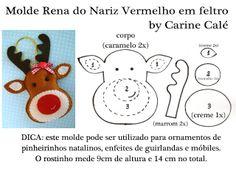 giuliana handmade: RENA DO NARIZ VERMELHO - Meu molde do mês!