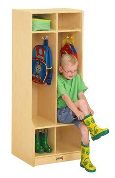 Jonti-Craft 2 Section Double Classroom Locker With Step