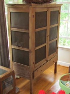 Antique Pie Saver Cabinet