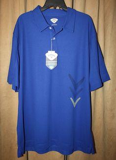 Men's NEW Callaway Blue Short Sleeve Performance Polo/Golf Shirt Size XL NWT | eBay
