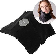 Jiuzhoudeal Travel Pillow Airplane Neck Pillow Scientifically Proven Super Soft Comfortable Lightweight Traveling Pillow for Cars Buses Trains Neck Scarf Pillow (Black) #Jiuzhoudeal #Travel #Pillow #Airplane #Neck #Scientifically #Proven #Super #Soft #Comfortable #Lightweight #Traveling #Cars #Buses #Trains #Scarf #(Black)