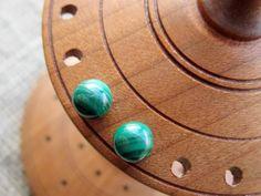 Malachite Sterling Silver 6mm Ball Stud Earrings