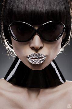 sunglasses + fantasy lips by Slinky-Aleksandr Lishchinskiy