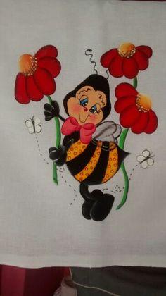 Abelhinha com flores...