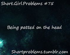 "I might pin ""short girl problems"" because I think they're funny, but I don't mind being short.unless you pat me on the head. Unless we're friends, DON'T FRIGGIN PAT MY HEAD! Short People Humor, Short People Problems, Short Girl Problems, Short Jokes, Short Girl Quotes, Short Person, Teen Posts, I Can Relate, Girls Life"