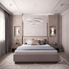 The Pitfall of Venetian Bedroom - Ceiling design Modern Luxury Bedroom, Luxury Bedroom Design, Bedroom Furniture Design, Home Room Design, Master Bedroom Design, Contemporary Bedroom, Luxurious Bedrooms, Bedroom Designs, Dream Master Bedroom