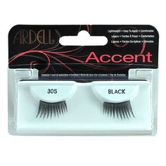 856bd5a1899 4 Pack Ardell Fashion Lash Accent 305 Black Fake Eyelashes, All Things  Beauty, Makeup