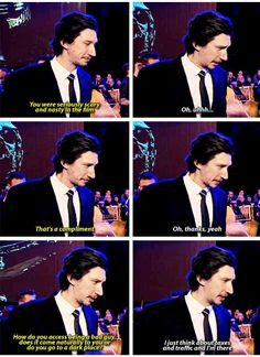 Adam Driver thinks about taxes and traffic to get into the angry mindset of Kylo