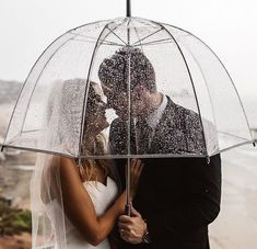 , see-through umbrella, transparent, bride & groom, wedding photography