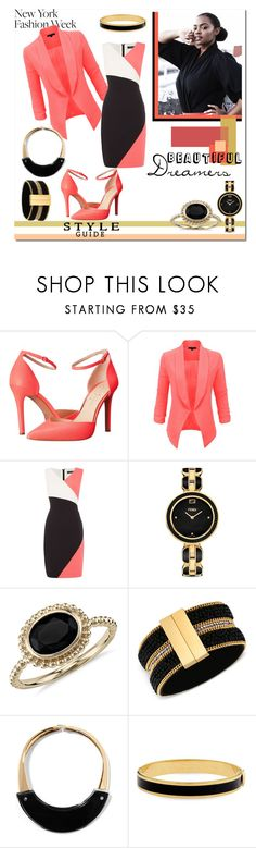 """""""Teacher 2"""" by yoh-mewz ❤ liked on Polyvore featuring Jessica Simpson, LE3NO, Ellen Tracy, Fendi, Blue Nile, GUESS, Marni and Halcyon Days"""