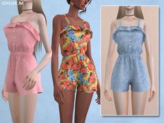 Jumpsuit with Falbala for The Sims 4