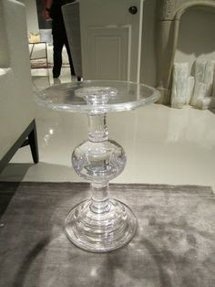 amazing lucite ball pedestal accent table by bernhardt - Lucite Table