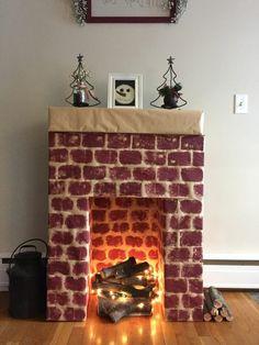 les 9 meilleures images du tableau chemin e en carton sur pinterest cardboard fireplace fake. Black Bedroom Furniture Sets. Home Design Ideas