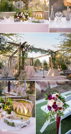 Champagne Blush And Maroon Wedding Details Springs Preserve Las Vegas Kmh Photography