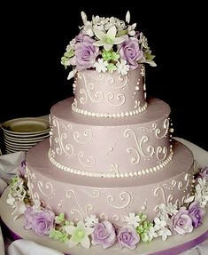 Purple / lavender Wedding Cake